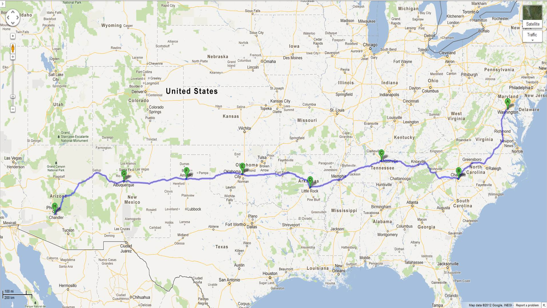 Kevin C Desouza Driving Across The US Alexandria VA To - Phoenix in us map